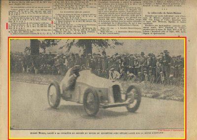 1928 25 08 Records du Monde le Km lancé Arpajon Morel Amilcar MCO 1100cc à 206,895 et en 1500cc à 210,770 km-h 11