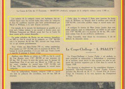 1928 29 04 Côte des 17 Tournants, 1800 km, Amilcar 1500 MCO n°66 Morel 1'29'' R.B., Martin n°71, MCO G.H. 1'32 R.B., , Williams Bugatti n° 74, 2000cc 1'28 R.B. 3