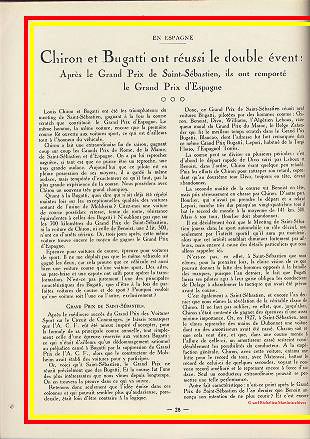 1928 29 07 GP St Sébastein 1er Chiron, Benoist Bugatti Williams 1