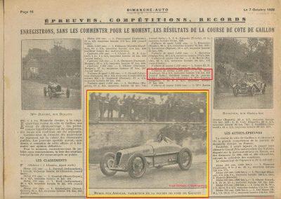 1928 30 09 24ème et dernier Gaillon Amilcar Morel MCO 1500cc 28'' 2-5 à 136 kmh RBMTTC 2
