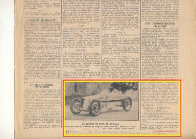 1928 30 09 Gaillon 1 Km D.A. 1er Amilcar Morel 28'2-5 R.B.T.T.C. 2