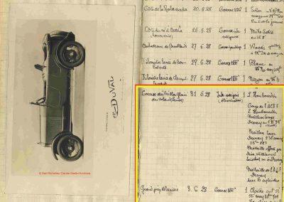 1928 31 06 Duray Vieille gloires GP Tunisie Cloître, Dupont. 1