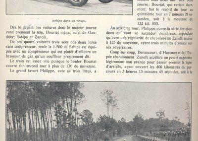 1929 02 06 GP ''le 2ème, GP BUGATTI'' au Mans. 1er Zanetti. 2