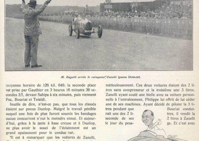 1929 02 06 GP ''le 2ème, GP BUGATTI'' au Mans. 1er Zanetti. 3