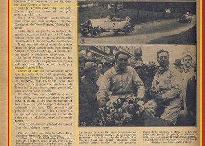 1929 07 07 GP Spa Belgique Benoist Alfa Duray-Laly Ariès 2 (2)