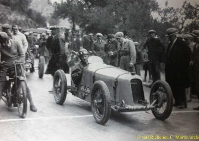 1929 14 04 Grande Semaine Autos de Monaco, le km D.A., 1er Morel, Amilcar MCO 1500cc, avant le GP. 2