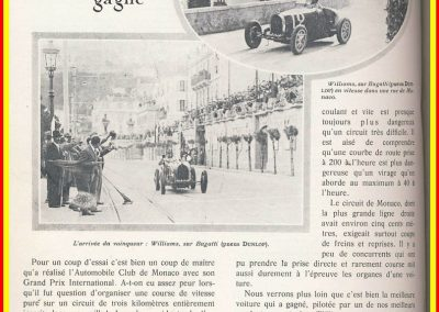 1929 14 04 le 1er GP de Monaco, 1er Williams-Bugatti 35B. 1