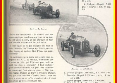 1929 14 04 le 1er GP de Monaco, 1er Williams-Bugatti 35B. 4