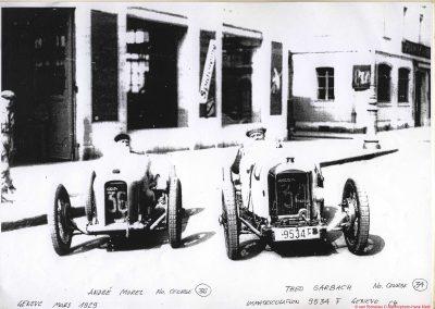 1929 17 03 Genève. Le km D.A., Amilcar 1500cc MCO n° 36, à Gauche, 1er Morel 30'' 6-10 à 117,600 km-h. MTTCJ. 5