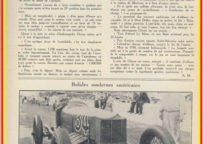 1929 30 05 500 miles d'Indianapolis USA. ab Moriceau sur l'Amilcar, Chiron sur Delage est 7ème sur 11 arrivants et 35 partants 10_