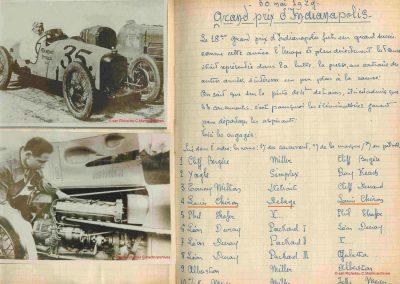 1929 30 05 500 miles d'Indianapolis USA. ab Moriceau sur l'Amilcar, Chiron sur Delage est 7ème sur 11 arrivants et 35 partants 17_