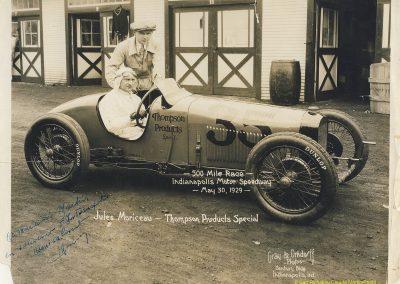 1929 30 05 500 miles d'Indianapolis USA. ab Moriceau sur l'Amilcar, Chiron sur Delage est 7ème sur 11 arrivants et 35 partants 3