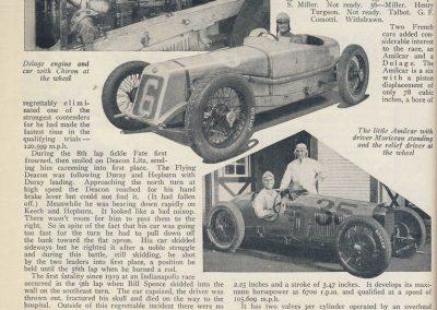 1929 30 05 500 miles d'Indianapolis USA. ab. Moriceau sur l'Amilcar MCO 1500, Chiron sur Delage est 7ème sur 11 arrivants et 35 partants 1 4