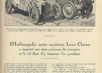 1929 30 05 500 miles d'Indianapolis USA. ab. Moriceau sur l'Amilcar MCO 1500, Chiron sur Delage est 7ème sur 11 arrivants et 35 partants 1 5