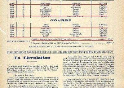 1930 -- 01 Revue de l'Automobile de la Côte d'Azur. Records de laTurbie. 2