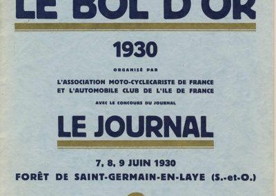 1930 07 09 06 Bol d'Or, le 9ème à St-Germain) C.A. Martin (mon père) Amilcar C.O. 6 cyl.-4, n°100 6ème, Gaston Mottet n°101. 1