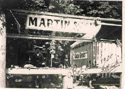 1930 07-09 06 Bol d'Or, le 9ème à St-Germain) C.A. Martin (mon père) Amilcar C.O. 6 cyl.-4, n°100 6ème, Gaston Mottet n°101. 7
