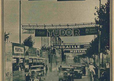 1930 14 09 Meeting des Routes Pavées, Circuit de Pont-à-Marcq, C.A. Martin Amilcar 6 cyl. n°54, 3ème des 1100cc. 1