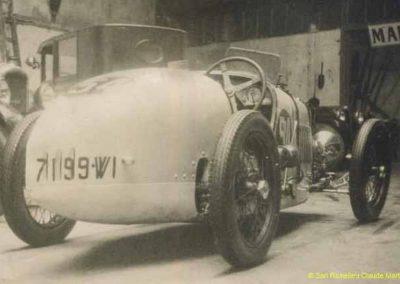 1930 14 09 Meeting des Routes Pavées, Circuit de Pont-à-Marcq, C.A. Martin Amilcar 6 cyl. n°54, 3ème des 1100cc. 6