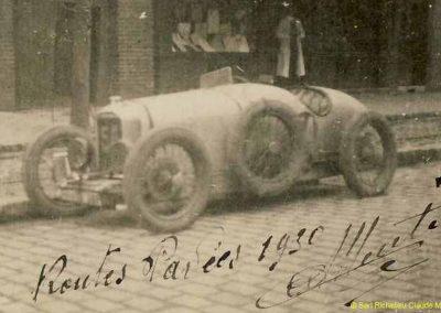 1930 14 09 Meeting des Routes Pavées, Circuit de Pont-à-Marcq, C.A. Martin Amilcar C.O. n°54, 3ème des 1100cc. 4