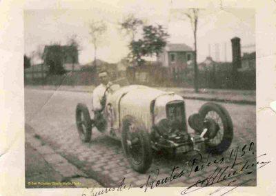 1930 14 09 Meeting des Routes Pavées, Circuit de Pont-à-Marcq, C.A. Martin Amilcar C.O. n°54, 3ème des 1100cc. 5