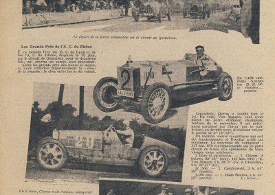 1930 15 06 Les GP du M.C. de Lyon et Rhone. Circuit de 5,6 km de Quincieux. 1er Chiron Bug 2000, 1er Czaykowski Bug 1500 et 1er Simons D.K.W. 1