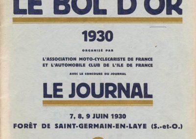 1930 7-9 06 Bol d'Or Saint-Germain. C.A. Martin Amilcar MCO GH (Martin Spécial) n°100 et Mottet 101. 1