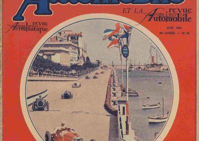 1931 19 04 GP Monaco 1er Chiron-Bugatti 51, ab Williams,Caracciola, Divo. 1