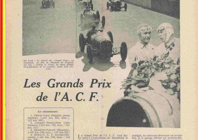 1931 21 06 GP ACF 1er Chiron-Varzi, 2ème Campari-Borzachini Alfa Roméo. ab Williams-Conelli Bugatti 51. 1