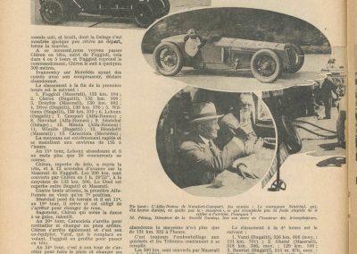 1931 21 06 GP ACF 1er Chiron-Varzi, 2ème Campari-Borzachini Alfa Roméo. ab Williams-Conelli Bugatti 51. 2