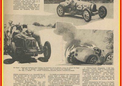 1931 21 06 GP ACF 1er Chiron-Varzi, 2ème Campari-Borzachini Alfa Roméo. ab Williams-Conelli Bugatti 51. 3