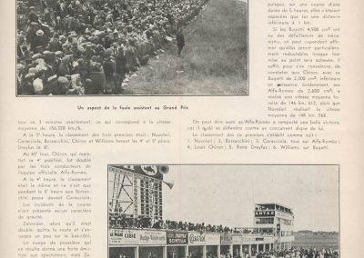 1931 21 06 GP ACF 1er Chiron-Varzi, 2ème Campari-Borzachini Alfa Roméo. ab Williams-Conelli Bugatti 51. 6