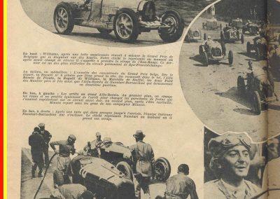 1931 22 07 GP Belgique 1er Williams-Conelli Bugatti 51, 2ème Nuvolari-Borzachini Alfa Roméo. 1