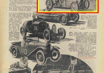 1931 23 25 05 Bol d'Or (24 h. un seul pilote) Saint -Germain-en-Laye. Amilcar MCO GH, C.A. Martin, 1er Cat. et 3ème au Général (avec le moteur 4 cyl. latéral 1100cc). 6_
