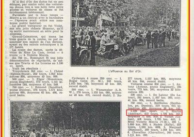 1931 23-25 05 Bol d'Or St Germain (les 24 h. 1 seul pilote). 1er Catégorie Sport, C.A. Martin Amilcar MCO GH n° 103, 413 tours soit, 1726 km à 71 km-h de moy. 13