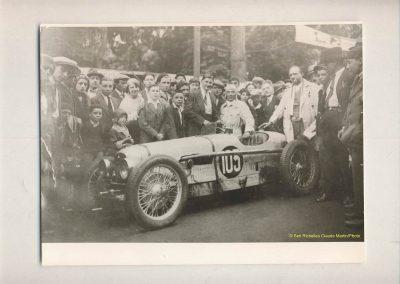 1931 23-25 05 Bol d'Or St Germain (les 24 h. 1 seul pilote). 1er Catégorie Sport, C.A. Martin Amilcar MCO GH n° 103, 413 tours soit, 1726 km à 71 km-h de moy. 7