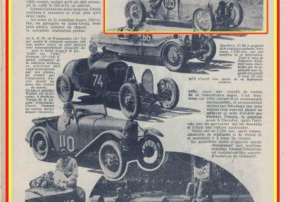 1931 23-25 05 Bol d'Or St Germain (les 24 h. 1 seul pilote). 1er Catégorie Sport, C.A. Martin Amilcar MCO GH n° 103, 413 tours soit, 1726 km à 71 km-h de moy. 9