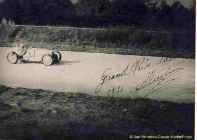 1931 30 08 GP de France, Autodrome de Linas-Montlhéry, C.A. Martin, 1er de Cat. Amilcar MCO GH. 2