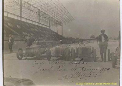 1932 01 10 GP de France, Montlhéry, Equipe C.A. Martin Amilcar 1er MCO G.H., Bodoignet CO et Raph. 1