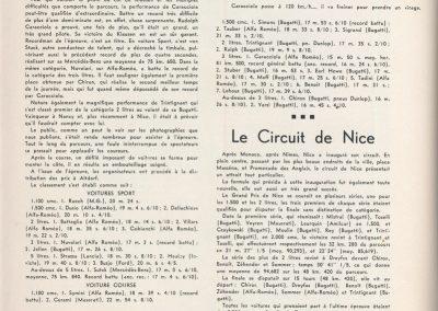 1932 07 08 Klausen 6ème Benoist Bugatti 35, le 1er GP de Nice, Dreyfus, Benoist, Leurquin, 1