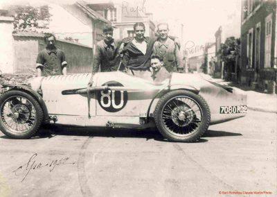 1932 09-10 07 GP de 24 heures, Circuit de Spa-Francorchamps. C.A. Martin-Bodoignet, Amilcar 6 cyl., n°74, non classé après 18 heures parcourues et 1er à la Coupe du Roi. Robail n°80. 3