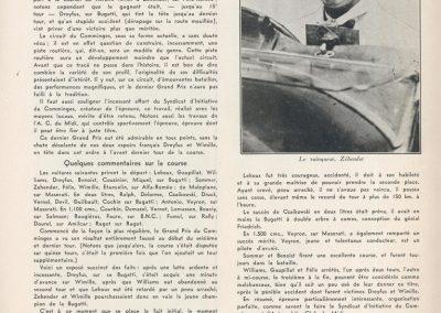 1932 14 08 GP du Comminges. 1er Zehender-Alfa, 2ème Lehoux-Bugatti, 3ème Sommer-Alfa et Caykowski sur Bugatti 54. 1