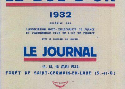 1932 14-15 05 Bol d'Or, 1er Cat. Course Amilcar C.A. Martin MCO GH, 2ème Bodoignet, 5ème Raph, 2ème des 500 M-Robail. 1