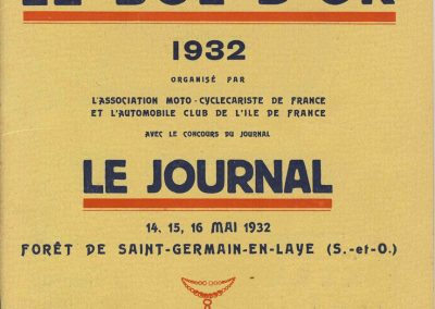 1932 14 15 16 05 Bol d'Or C.A. Martin 1er Cat. Course Amilcar MCO GH n°46, 2ème Bodoignet n°72, 5ème Raph n°47, Poiré 3ème Sport n°18 sur 6 cyl. Amilcar usine et Martin-Robail n°36. 0
