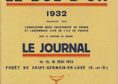 1932 14 15 16 05 Bol d'Or C.A. Martin 1er Cat. Course Amilcar MCO GH n°46, 2ème Bodoignet n°72, 5ème Raph n°47, Poiré 3ème Sport n°18 sur 6 cyl. Amilcar usine et Martin-Robail n°36. 1