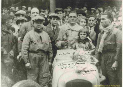1932 14 15 16 05 Bol d'Or C.A. Martin 1er Cat. Course Amilcar MCO GH n°46, 2ème Bodoignet n°72, 5ème Raph n°47, Poiré 3ème Sport n°18 sur 6 cyl. Amilcar usine et Martin-Robail n°36. 4