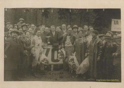 1932 14 15 16 05 Bol d'Or C.A. Martin 1er Cat. Course Amilcar MCO GH n°46, 2ème Bodoignet n°72, 5ème Raph n°47, Poiré 3ème Sport n°18 sur 6 cyl. Amilcar usine et Martin-Robail n°36. 5