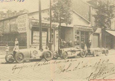 1932 14 15 16 05 Bol d'Or C.A. Martin 1er Cat. Course Amilcar MCO GH n°46, 2ème Bodoignet n°72, 5ème Raph n°47, Poiré 3ème Sport n°18 sur 6 cyl. Amilcar usine et Martin-Robail n°36. 7