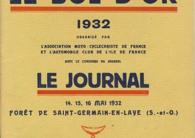 1932 14-15-16 05 Bol d'Or. Amilcar MCO GH C.A. Martin, 1er Cat. Course n°46. Biolay sur Monotrace (cyclecar 3 roues 500cc) n° 6. 1