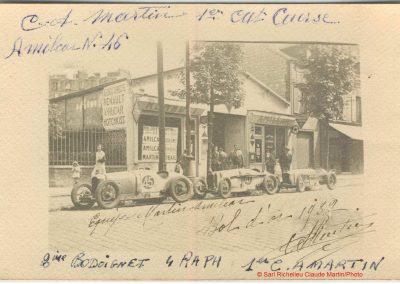 1932 14-16 05 Bol d'Or St Germain, 24 h. 1 pilote. Amilcar MCO GH C.A. Martin 1er cat. n°46, Raph 5ème n°47, Bodoignet 2ème. 1